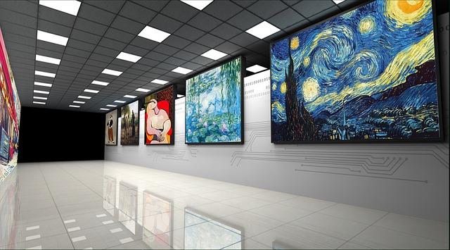 Art gallery paintings