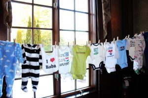 Baby shower clothes